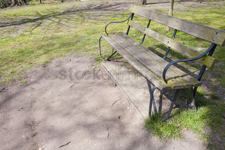 Weathered : Bench in park