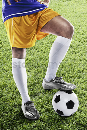 Bosnia and herzegovina : Bosnia and herzegovina soccer player ready for kick off