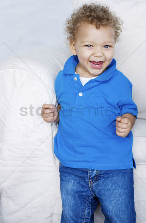 Curly hair : Boy laughing