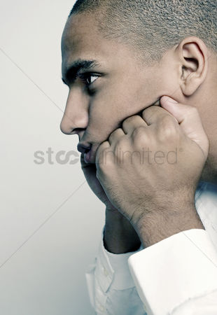 Relaxing : Businessman in deep thought
