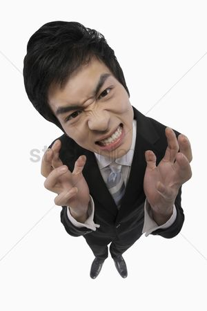 Rage : Businessman looking angry