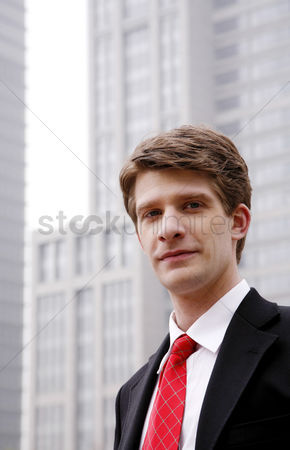 Composed : Businessman looking at the camera