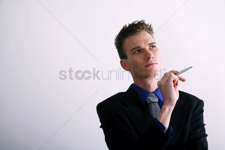 Business suit : Businessman thinking