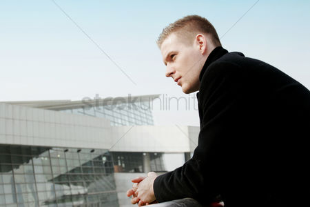 Thought : Businessman thinking