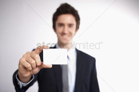 Business suit : Businessman with business card