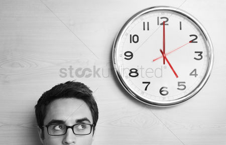 Business : Businessmen and clock