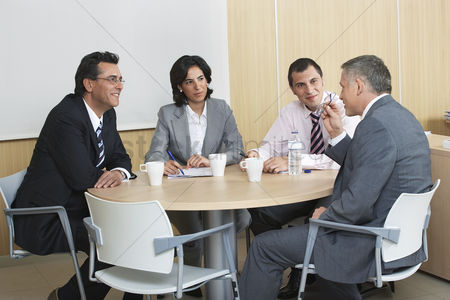 Business suit : Businesspeople having meeting in office
