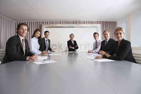 Leadership : Businesspeople in conference room