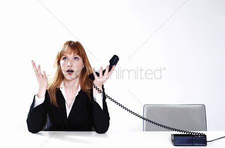Sales person : Businesswoman getting frustrated with her customer