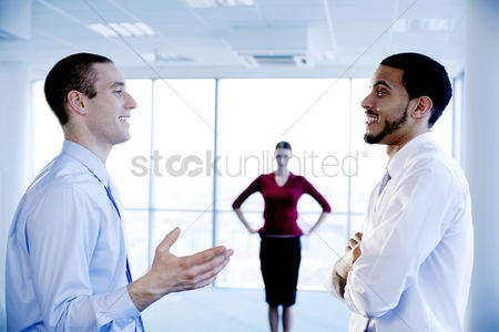 Sales person : Businesswoman showing her dissatisfaction towards her subordinate s behaviour