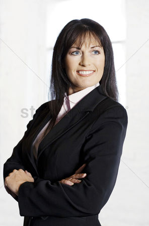Leadership : Businesswoman smiling