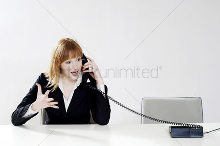 Sales person : Businesswoman talking on the phone