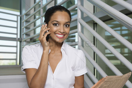 Cellular phone : Businesswoman using cell phone