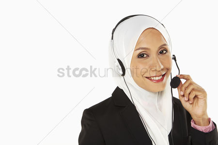 Malay : Businesswoman with headset
