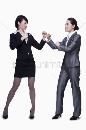 Fight : Businesswomen about to fight
