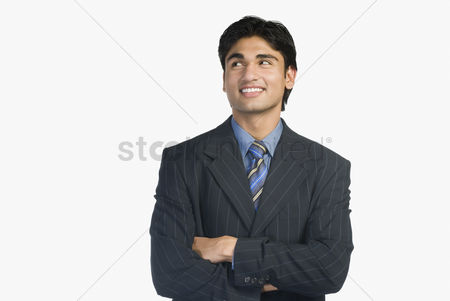 Corporation : Close-up of a businessman smiling