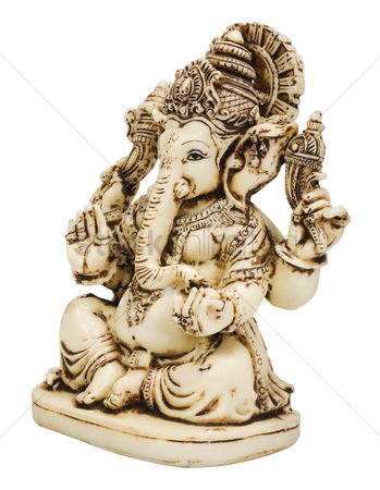 God : Close-up of a figurine of lord ganesha