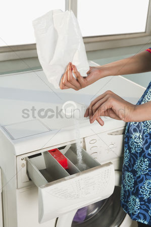 Housewife : Close-up of a woman doing laundry