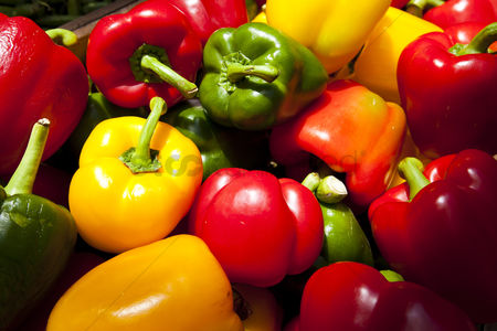 Food : Close up of bell peppers