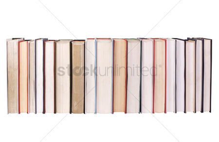 Collection : Close-up of books arranged in a row