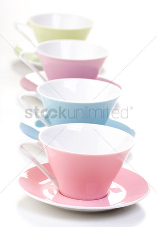 Blank : Close up of empty cups in a row