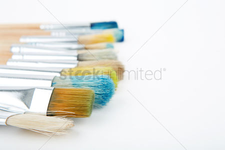 Creativity : Close up of some paintbrushes