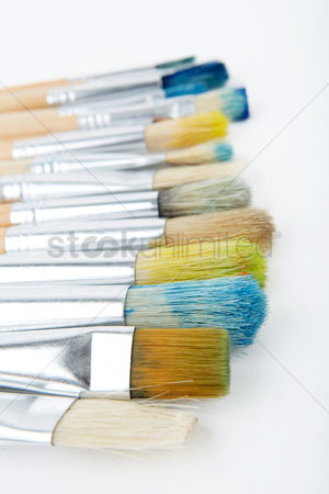 Paint brush : Close up of some paintbrushes