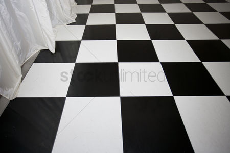 Dance : Close-up view of chequered floor