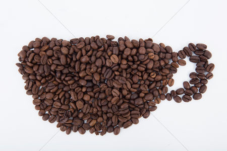Strong : Coffee beans in a cup shape