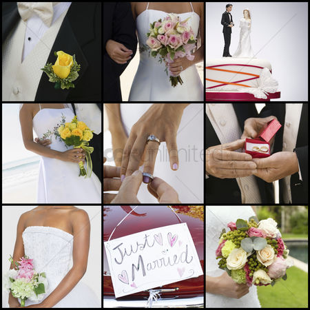 Religion : Collage of brides and grooms