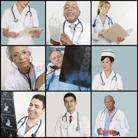 Examination : Collage of medical team