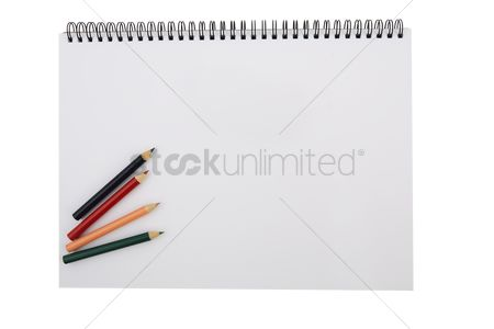 Blank : Color pencils on drawing pad