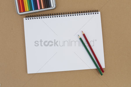 Blank : Color pencils with drawing pad