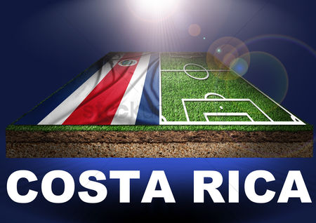 Pitch : Costa rica with football field