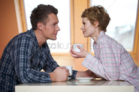 Love : Couple drinking coffee
