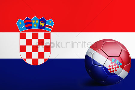 Nationality : Croatia flag with soccer ball