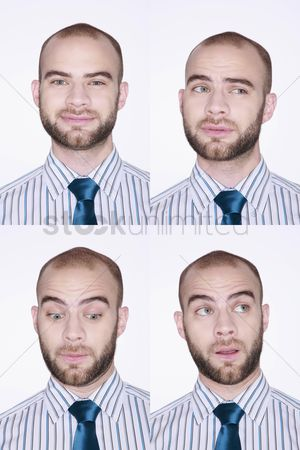 Wondering : Different faces of a businessman