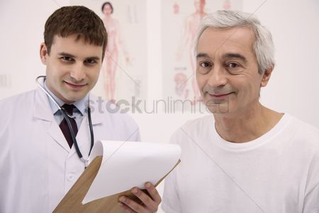 Eastern european ethnicity : Doctor and his patient