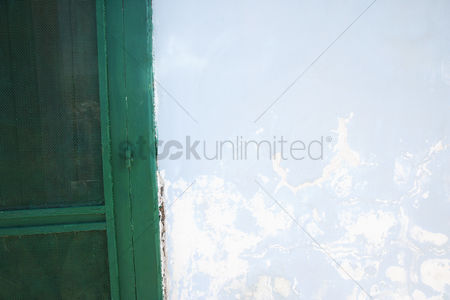 Weathered : Door near a weathered wall  ponza  province of latina  lazio  italy