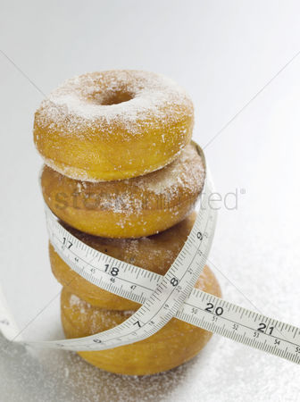 Food  beverage : Doughnuts and tape measure