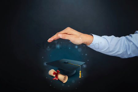 Proud : Education concept with hand gesture