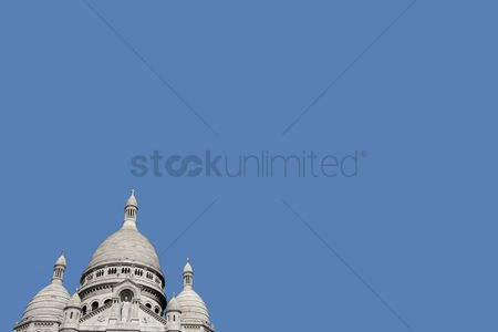 Religion : Elevated view of sacre coeur in paris