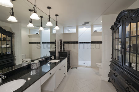 Interior : Empty bathroom of luxury house