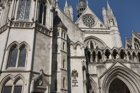 England : Exterior of the royal courts of justice at london  england  uk