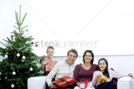 Adulthood : Family christmas portrait