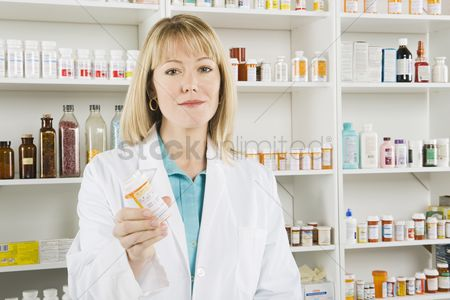 Medication : Female pharmactist portrait