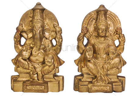 God : Figurines of goddess lakshmi and lord ganesha