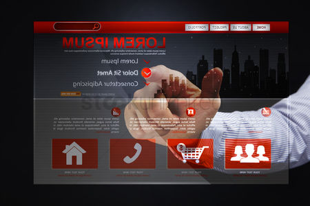 Shopping cart : Finger pointing at digital online shopping website