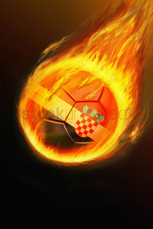 Nationality : Flaming croatia soccer ball