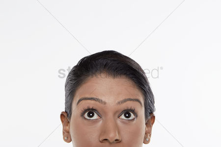 Malaysian indian : Front view of woman s face
